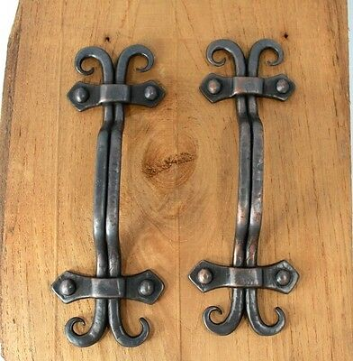 "Lot Set Of 4  Handles  6 "" Head Door Gate Entry Pull Gray  European Style"