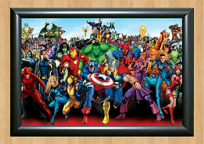 Marvel Heoreos Comics Characters Poster Photo Print Picture A4 297x210mm Batman