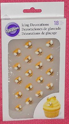 Bee, Bumble, Edible Cookie/Cupcake Toppers,Wilton,Yellow,710-2916, Decoration