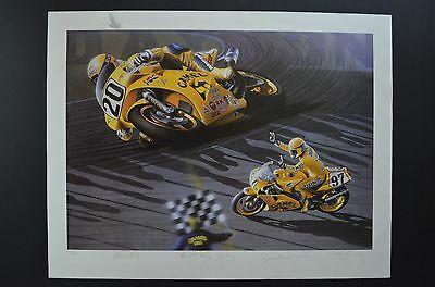 """""""The 50th Running- Daytona"""" hand signed limited print signed by MIGUEL DUHAMEL"""