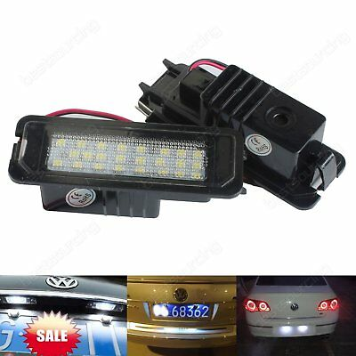 Canbus LED License Number Plate Light Lamp For VW Golf GTI MK6 MK5 Passat Polo