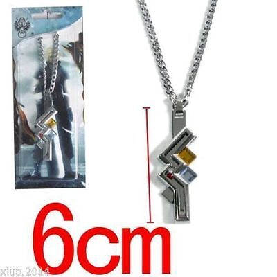 Free Shipping Hot Final Fantasy Anime Lightning Metal Pendant Necklace
