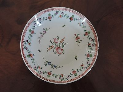 Antique 18th century Chinese Export Porcelain Plate Saucer Bowl Famille Rose