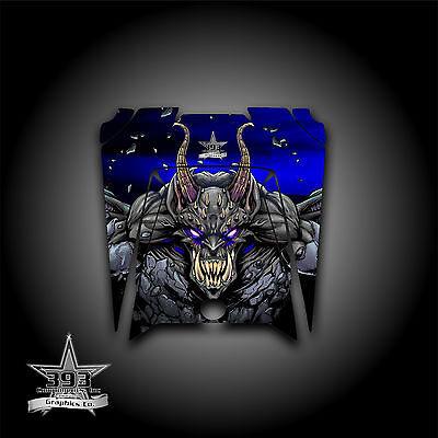 "POLARIS 11-13 RZR XP 900 800 570 RZR HOOD GRAPHICS KIT /""THE JESTERS GRIN/"" BLACK"