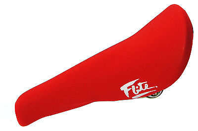 NEW *MADE IN USA* RED old school BMX seat cover FLITE padded neoprene