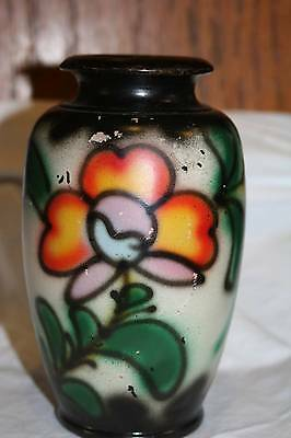 Vintage Made in Japan Flower VASE Art Pottery Retro Flowers Old Antique