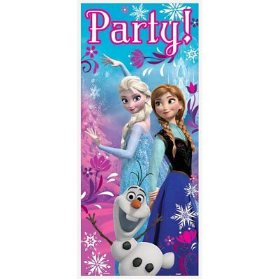 Disney Frozen Plastic Door Poster Cover Anna Elsa Olaf Party Supplies Decoration