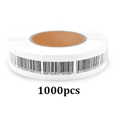 Eas Anti-Theft Checkpoint Security Soft Label Tag 1000Pcs Rf 8.2 Mhz (30Mmx40Mm)