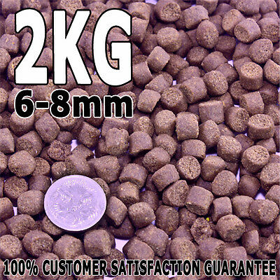 Premium Bulk Cichlid Native Fish Food Protein Growth Pellet 6-8mm Sinking 2kg