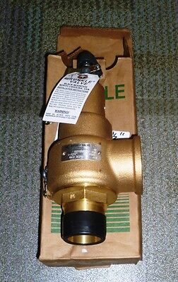 """NEW KUNKLE 6010HGM01 Relief Valve 6010HGM01-KM 1 1/2"""" 1.5"""" 30 PSIG 30PSI"""