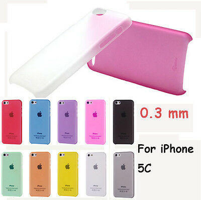 New Colorful Ultra Slim 0.3mm Matte Clear Cover Protection Case For iPhone 5C