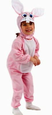Pink Bunny Rabbit Toddler Fancy Dress Costume Age 3