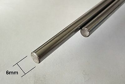 3D Printer 6mm Chrome Steel Rod - 10 30 40 - 1m Lengths - Linear Rail Bar shaft