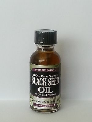 Organic 30ml / 1oz 100% Pure Black Seed Oil Cold Pressed Cumin Nigella Sativa