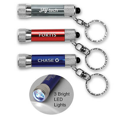 MINI ALUMINUM KEY LIGHTS - 100 quantity - Custom Printed with Your Logo