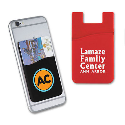 SILICONE PHONE WALLETS, 1 POCKET - 125 quantity - Custom Printed with Your Logo