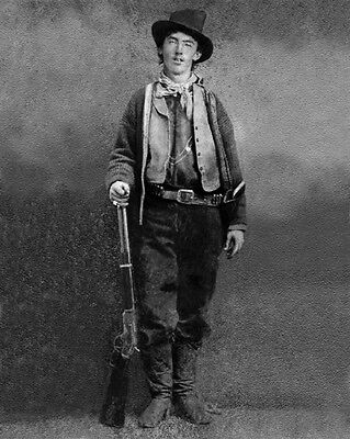 1879 Old West Outlaw BILLY THE KID Glossy 8x10 Photo Vintage Gunfighter Print