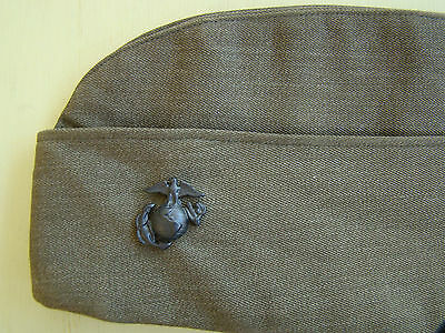 Usmc Us Marine Corps Enlisted & Nco Service Dress Olive Green Garrison Cap 7 1/4