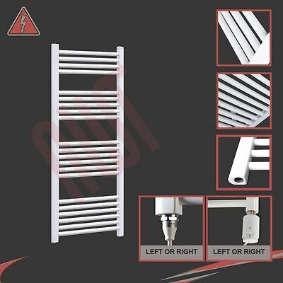 600mm(w) x 1200mm(h) Pre-filled Electric 300W Straight White Towel Rail Radiator