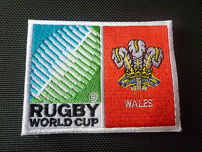 New Rugby World Cup  Badge - Sew on Patch - Wales 10cm x 7.5cm