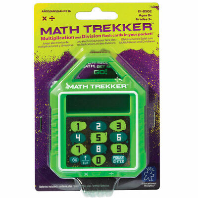 Maths Trekker - Childrens Handheld Electronic Times Tables & Division Maths Game