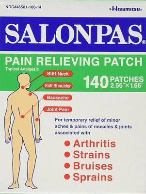 Salonpas Patch Hisamitsu Pain Relieving  - Made in Japan 2 packs 40 Patches