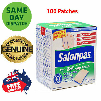 Salonpas Patch Hisamitsu Pain Relieving Made in Japan 100 Patches larger 7.2x4.6