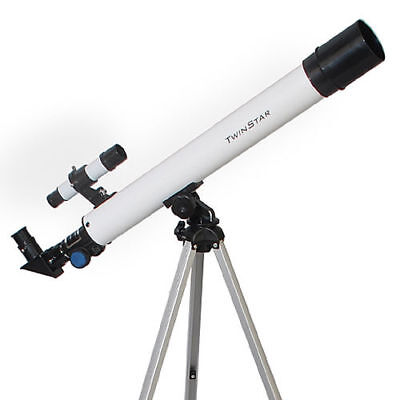 New White 50mm Refractor Telescope with Tripod w Mount