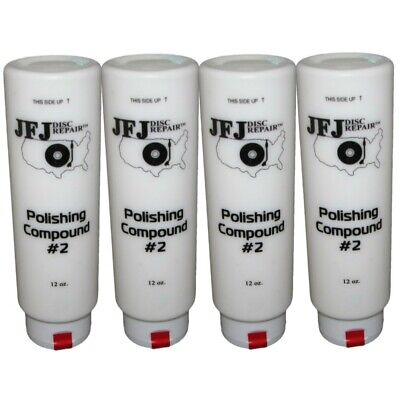4 x JFJ EASY PRO POLISHING COMPOUND SOLUTION #2 WHITE 12oz
