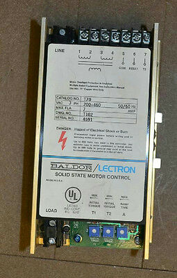 BALDOR LECTRON T70 Soft Starter, 200-460VAC, 3Ph, Solid State Motor Controller
