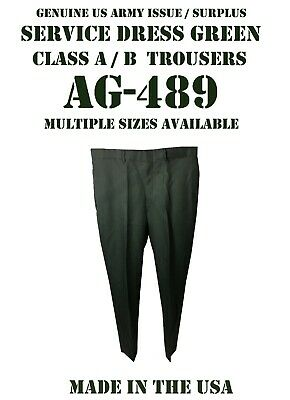 New Mens Service Dress Green Class A B Us Army Uniform Pants Trousers Many Sizes