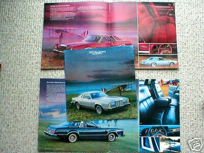 1979 Ford THUNDERBIRD T-BIRD Dealer Brochure/Pamphlet