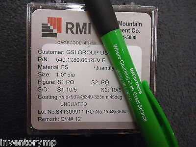 Rocky Mountain Inst. 540.1280.00 355NM TURNING MIRROR, 1 IN. Brand New!