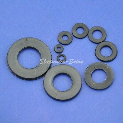Black Nylon Flat Washer, for M2 M2.5 M3 M4 M5 M6 M8 M10 M12 Screw/Bolt.