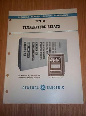 Vtg GE General Electric Catalog~Type CFT Temperature Relays~1949~Brochure