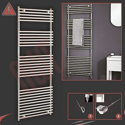 "600mm (w) x 1650mm (h) Pre-filled Electric ""Polaris"" Chrome Towel Rail - 600W"
