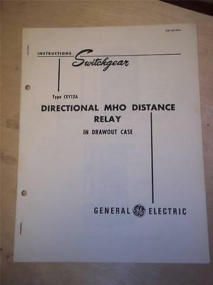 Vtg GE General Electric Manual Type CEY12A MHO Distance Relay~Instructions~1948