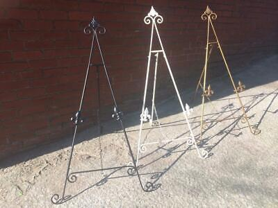 """WHITE GOLD BLACK 36"""" / 3ft IRON EASEL DISPLAY PICTURE WEDDING MENU STAND AA-23"""