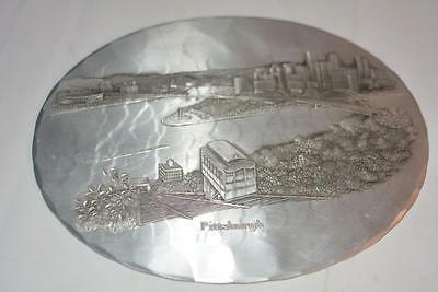1989 Navy Nationals Wendell August Forge Aluminum Tray Pittsburgh Science Award