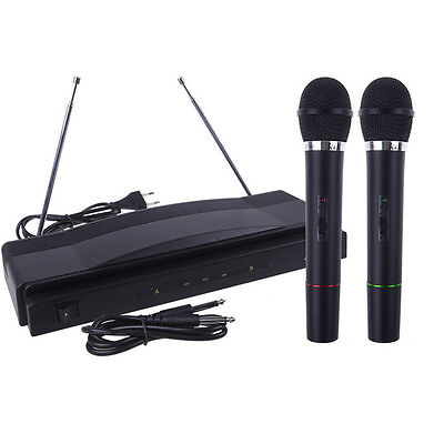Wireless Microphone System Dual Handheld + 2 x Mic Cordless Receiver Salable