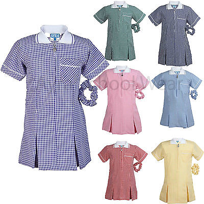 School Summer Gingham Girls Dress, Large Size Also Available From Age: 3 to 20--