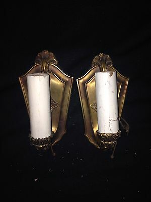 "1940's Pr 7 3/4"" Light Fixture Sconces"