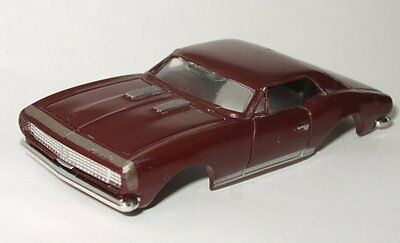 RARE BROWN gold 1967 CHEVY CAMARO RS/SS AURORA Thunderjet T-jet HO SLOT CAR NICE