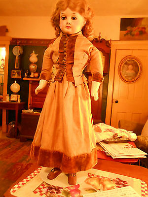 """Exceptional 27"""" Early Fashion Style Doll - ALL ORIGINAL"""