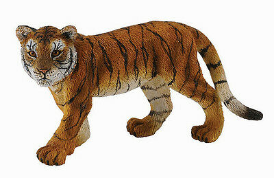 Mojo Fun 387015 White Tiger Cub Lying NIB Wildlife Zoo Animal Toy Figurine