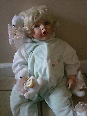 """""""MOMMY'S TEDDY LOVE KISSES"""" DOLL BY F. SPANOS-BEAUTIFUL & EXCELLENT CONDITION"""