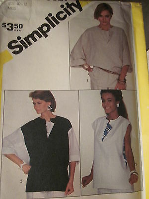 6329 VINTAGE Simplicity Sewing Pattern Misses Loose-Fitting Pullover Top UNCUT