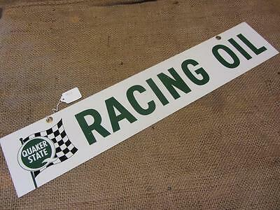 Vintage 1967 Quaker State Racing Oil Double Sided Sign   Antique Gas Oil 9311