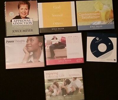 Lot of 7 Joyce Meyer CD Audiobooks. Power Thoughts, Mercy, Too Busy, Loving God.