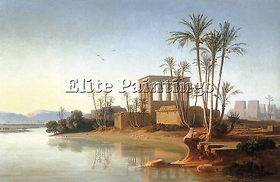 The Ruins At Philae Egypt Artist Painting Handmade Oil Canvas Repro Art Deco